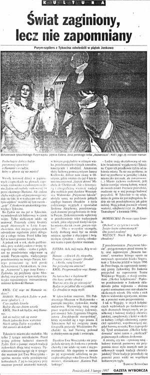 Purimowe Łakocie - artykuł z Gazety Wyborczej